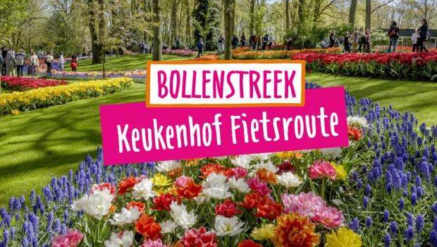 Keukenhof fietsroute langs de bloemenvelden in Nederland