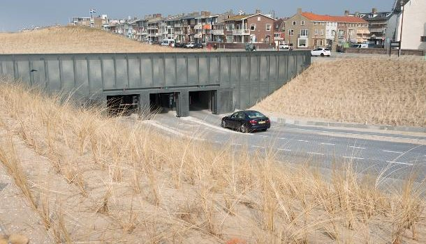 Parkeren bij strand Noordwijk en Katwijk