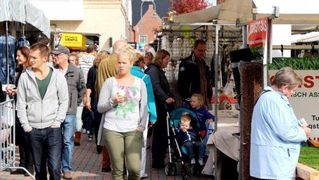 Donderdag wekelijkse markt in Sassenheim