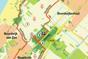 Wandelroute Noordwijk: Langs buitenplaatsen en bloemenvelden