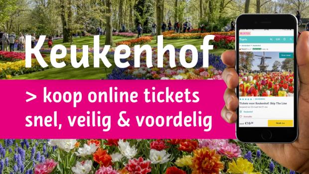 Keukenhof tickets entreekaarten toegangskaarten korting kortingscode