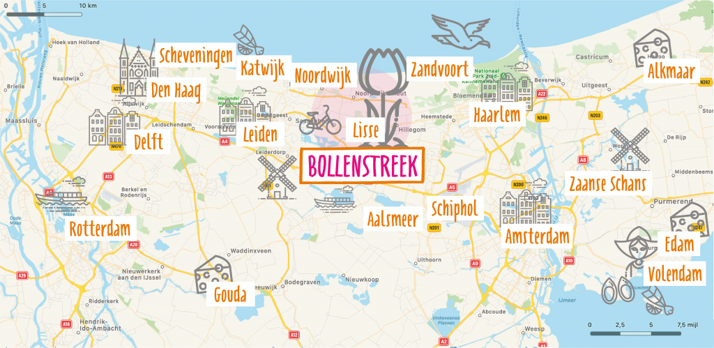 Bollenstreek map