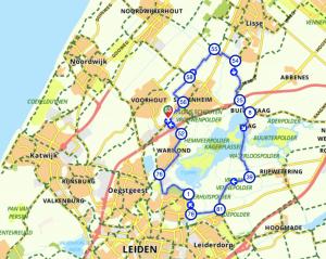 fietsroute langs de iconen van Nederland