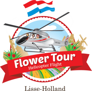 helicopter tour above the flower fields near Amsterdam