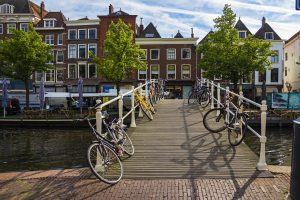 Fietsroute rondje Leiden bloemenvelden Keukenhof