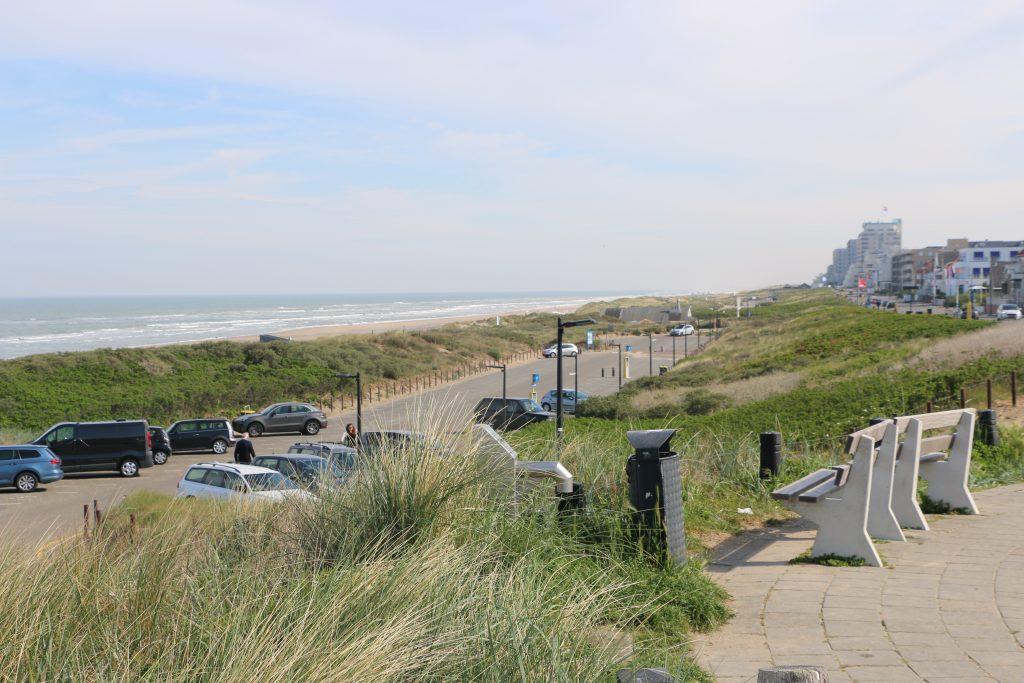 Parkeren bij het strand van Noordwijk
